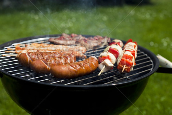 BBQ, Grilling time, bright colorful vivid theme Stock photo © JanPietruszka