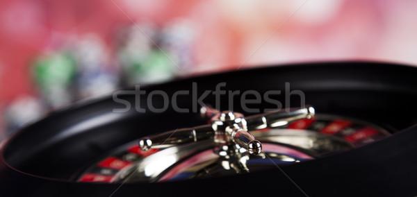 ルーレット ギャンブル カジノ 表 楽しい 黒 ストックフォト © JanPietruszka