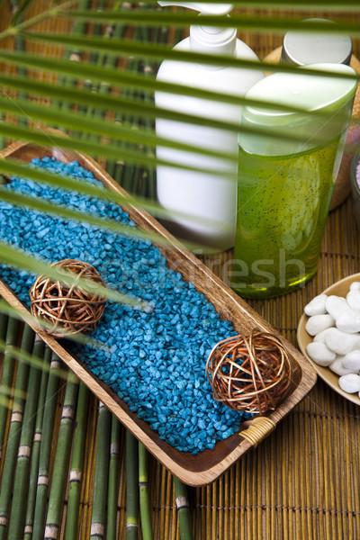 Spa zout vers organisch badkamer douche Stockfoto © JanPietruszka