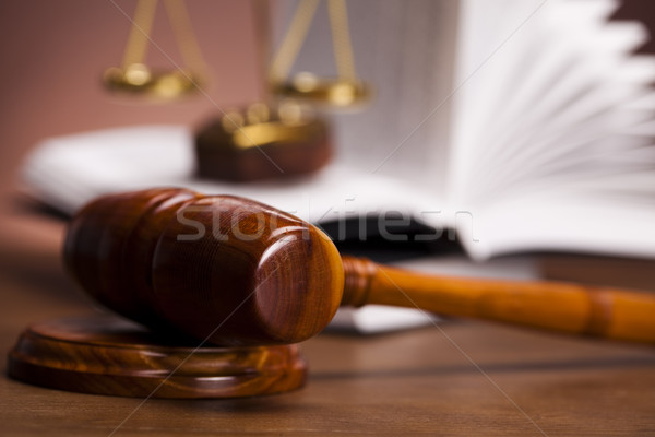 Law theme, mallet of judge! Stock photo © JanPietruszka