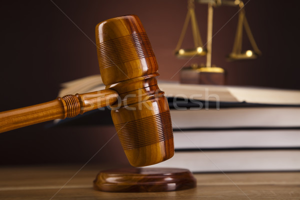 Recht justitie hout hamer witte rechter Stockfoto © JanPietruszka