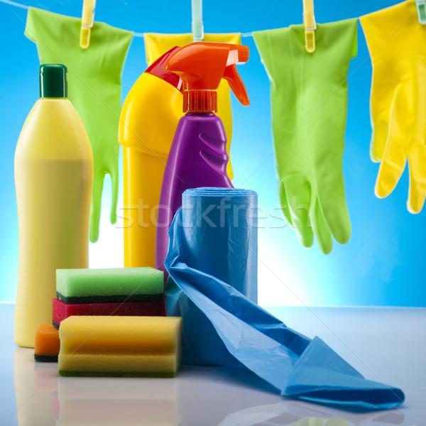 Huis schoonmaken product werk home fles Stockfoto © JanPietruszka