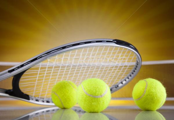 Tennisracket bal achtergrond dienst spelen spel Stockfoto © JanPietruszka