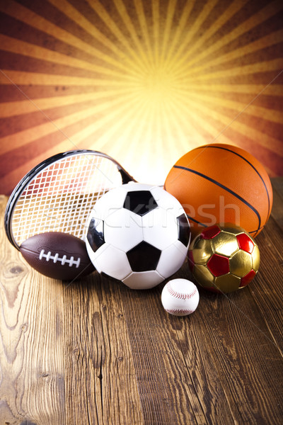 Sports Equipment and sunshine Stock photo © JanPietruszka