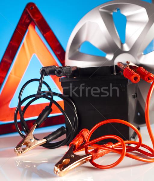 Araba pil iki kablolar canlı moto Stok fotoğraf © JanPietruszka