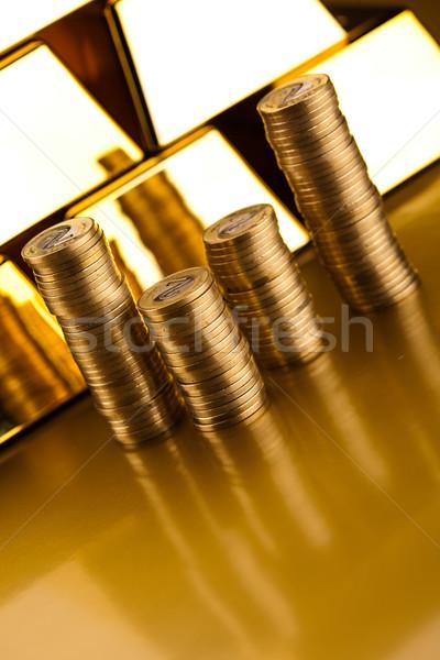 Diamond and gold, ambient financial concept Stock photo © JanPietruszka