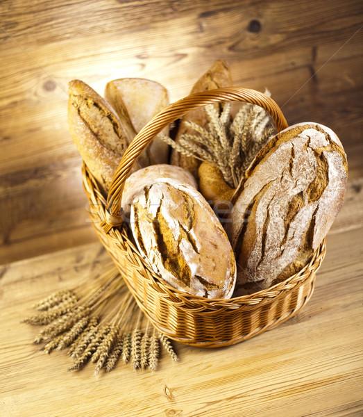 Ekmek sepeti gıda doğa alışveriş mutfak buğday Stok fotoğraf © JanPietruszka