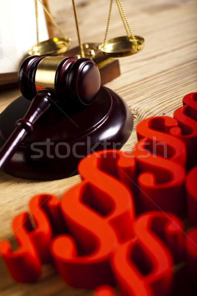 段落 裁判官 法 図書 正義 木材 ストックフォト © JanPietruszka