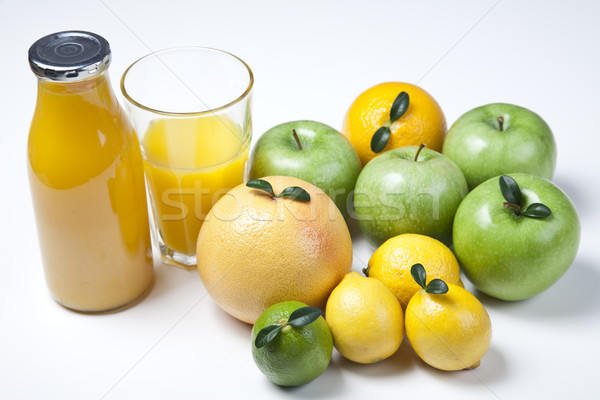 Watch fruits. Eat fruits. Buy fruits! , bright colorful tone con Stock photo © JanPietruszka