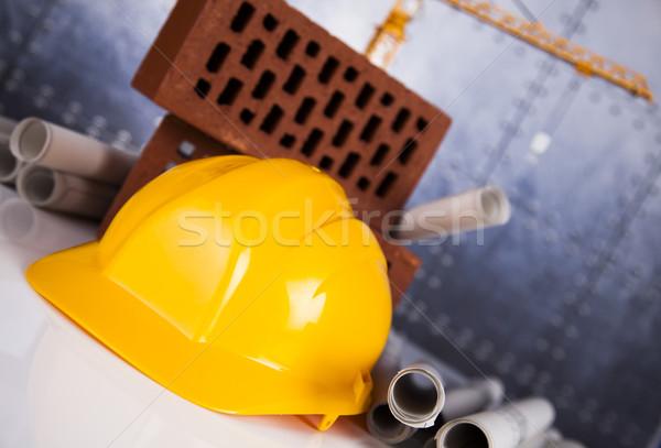 建設現場 建物 クレーン 青写真 ビジネス 金融 ストックフォト © JanPietruszka