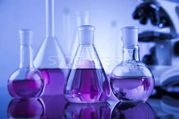 Microscopio medici laboratorio ricerca esperimento istruzione Foto d'archivio © JanPietruszka