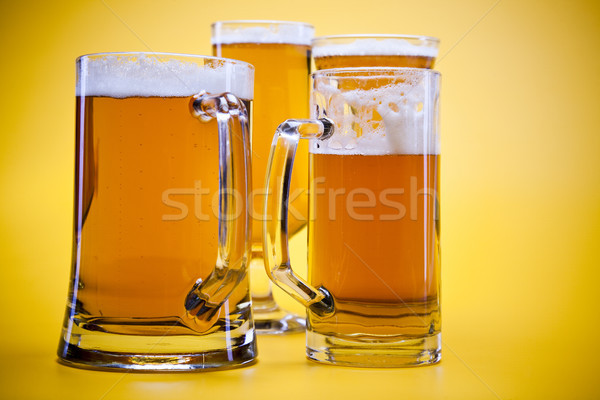 Bira cam parlak canlı alkol parti Stok fotoğraf © JanPietruszka