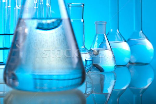 лаборатория изделия из стекла эксперимент медицинской лаборатория химического Сток-фото © JanPietruszka