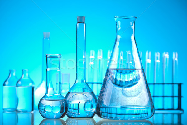 Assorted laboratory glassware , experiment Stock photo © JanPietruszka