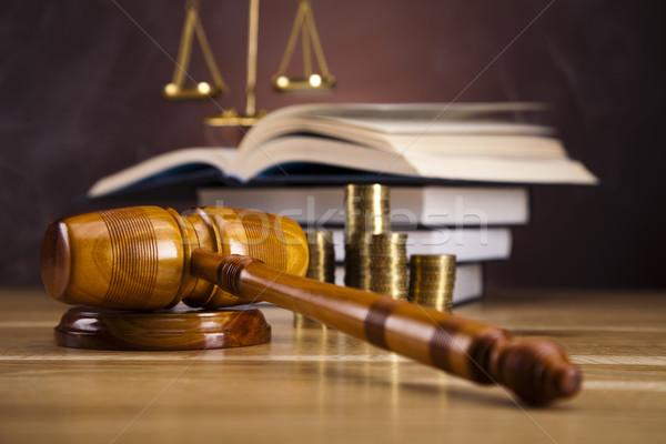 Martelletto legno legge martello bianco giudice Foto d'archivio © JanPietruszka