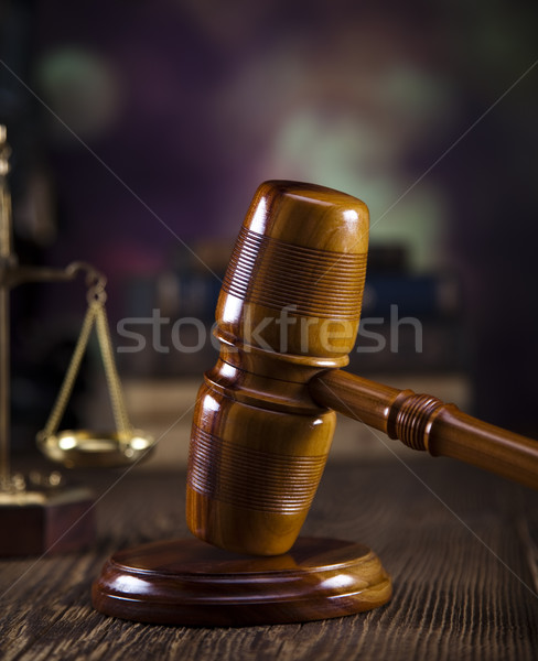 Justice avocat juge tribunal objet marteau Photo stock © JanPietruszka