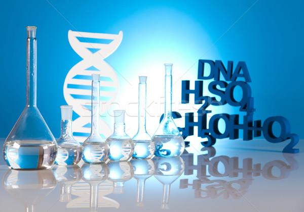 DNA cząsteczki chemia wzoru wody projektu Zdjęcia stock © JanPietruszka
