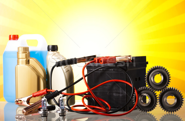 Conjunto autopeças carro bateria moto Foto stock © JanPietruszka