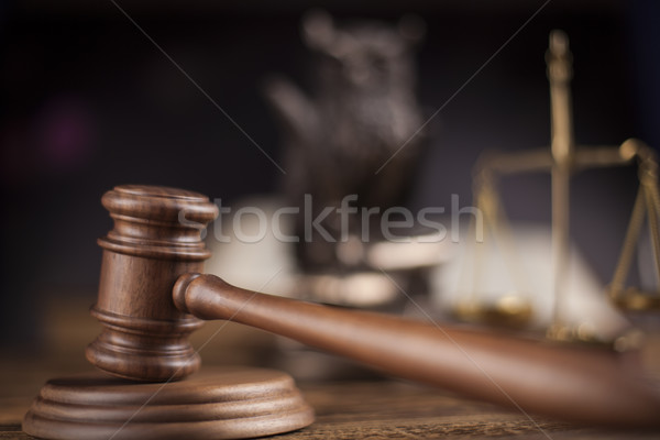 Gavel,Law theme, mallet of judge Stock photo © JanPietruszka