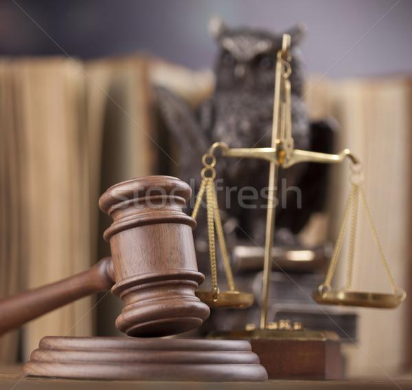 裁判所 裁判官 法 正義 ハンマー 法的 ストックフォト © JanPietruszka