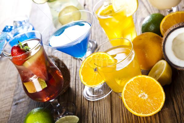 Koktélok alkohol ital természetes színes étel Stock fotó © JanPietruszka