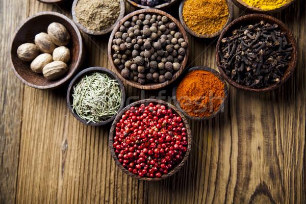 Spices and herbs, orintal cuisine vivid theme Stock photo © JanPietruszka