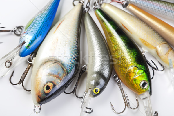 Fly fishing tackle, saturated natural tone theme Stock photo © JanPietruszka