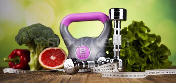 Healthy lifestyle concept, vitamins composition Stock photo © JanPietruszka