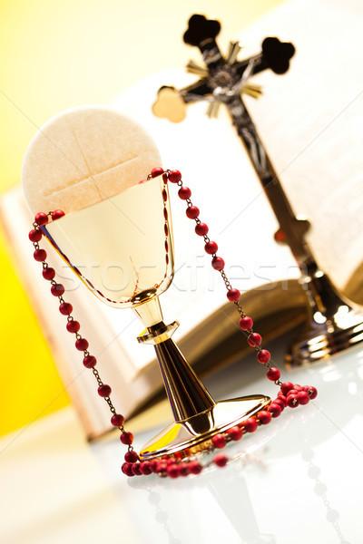 христианской святой общение ярко Иисус хлеб Сток-фото © JanPietruszka