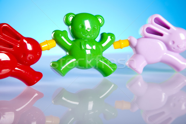 Baby Kinder Spielzeug hellen lebendig Kind Stock foto © JanPietruszka