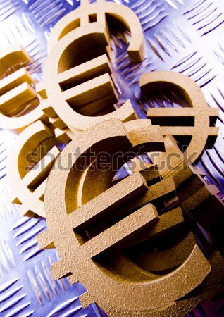 Euro, bright financial saturated concept Stock photo © JanPietruszka