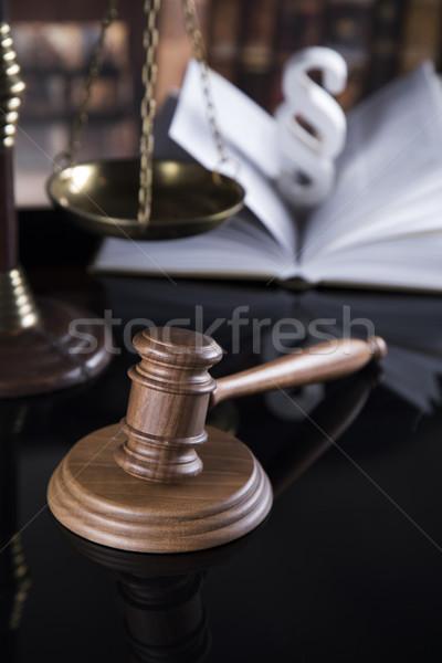 Libro ley juez martillo justicia Foto stock © JanPietruszka