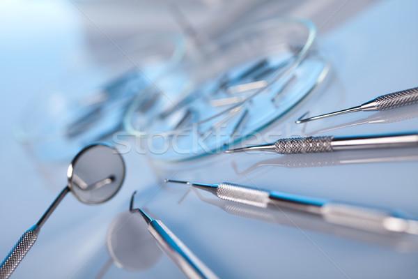 Foto d'archivio: Dental · strumenti · medicina · specchio · strumento