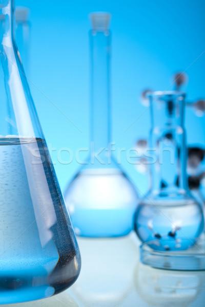 Chemia laboratorium wyroby szklane medycznych laboratorium chemicznych Zdjęcia stock © JanPietruszka