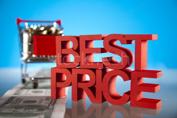 Mejor precio fondo compras rojo financiar servicio Foto stock © JanPietruszka