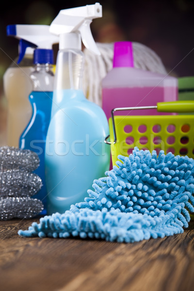Limpeza equipamento trabalhar casa garrafa serviço Foto stock © JanPietruszka