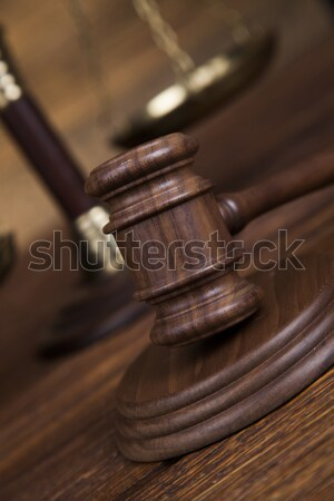 Yargıç hukuk adalet çekiç mahkeme yasal Stok fotoğraf © JanPietruszka