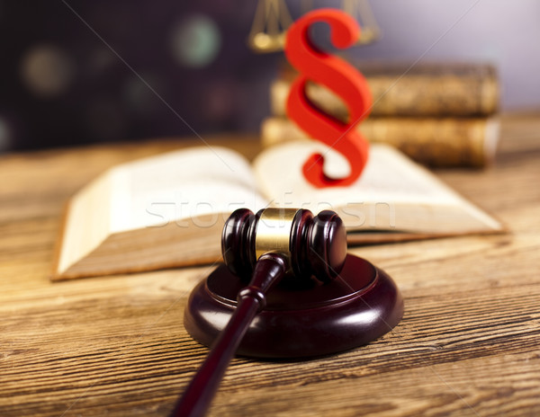 Justice concept and paragraph Stock photo © JanPietruszka