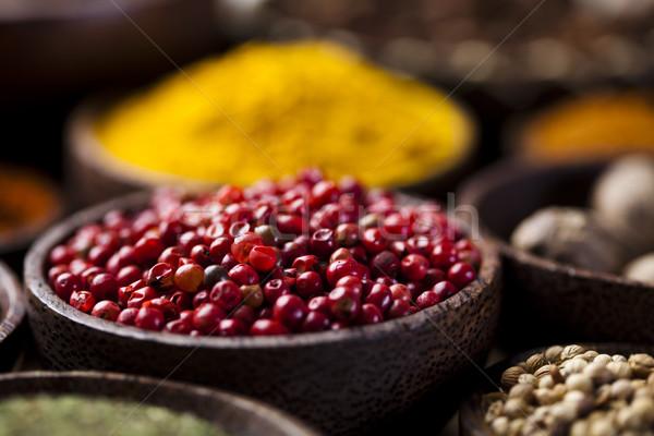 Spice натюрморт чаши кухня яркий Сток-фото © JanPietruszka