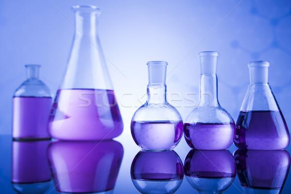 Scienza chimica laboratorio cristalleria salute blu Foto d'archivio © JanPietruszka