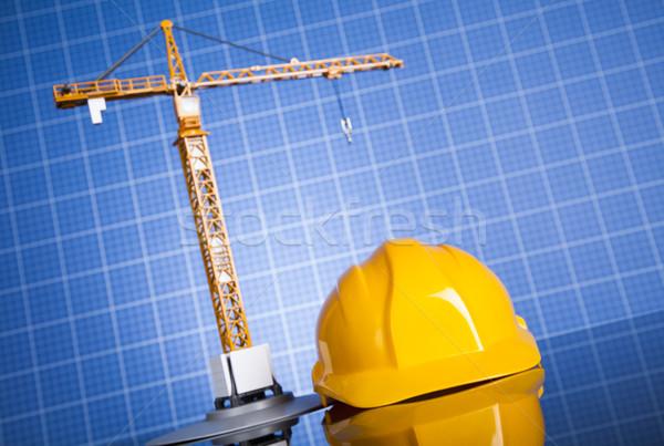 Progetto disegni costruzione costruzione business finanziare Foto d'archivio © JanPietruszka