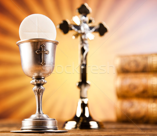 Stock photo: First communion, bright background, saturated concept