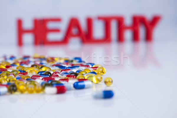 Healthy background, Pills, Tablets, Capsule background Stock photo © JanPietruszka