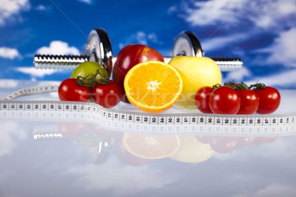 Dieet fitness sport energie vet blauwe hemel Stockfoto © JanPietruszka