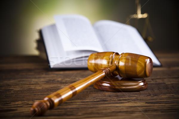 Bíró ügyvéd bíróság tárgy kalapács árverés Stock fotó © JanPietruszka