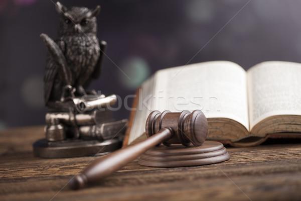 Houten hamer justitie juridische recht hamer Stockfoto © JanPietruszka