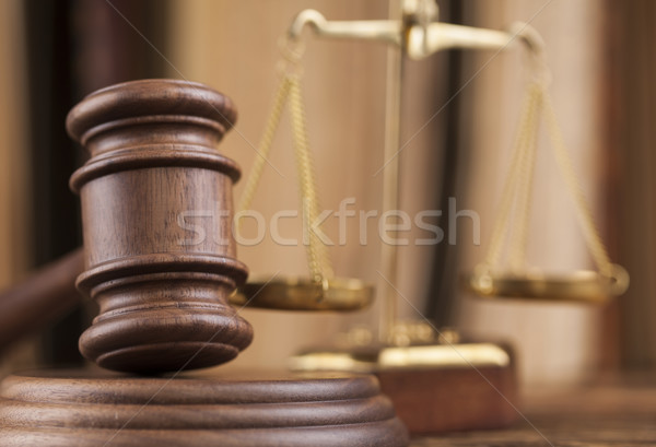 Stock fotó: Fából · készült · kalapács · igazság · jogi · törvény · kalapács