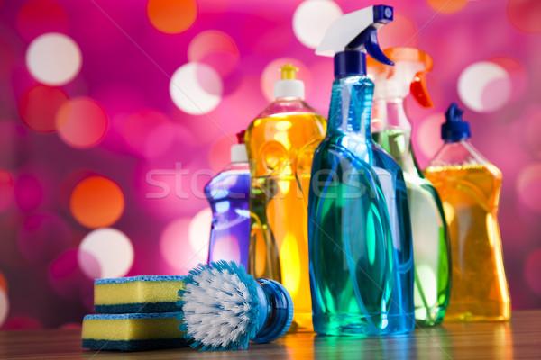 Pulizia home lavoro colorato gruppo bottiglia Foto d'archivio © JanPietruszka