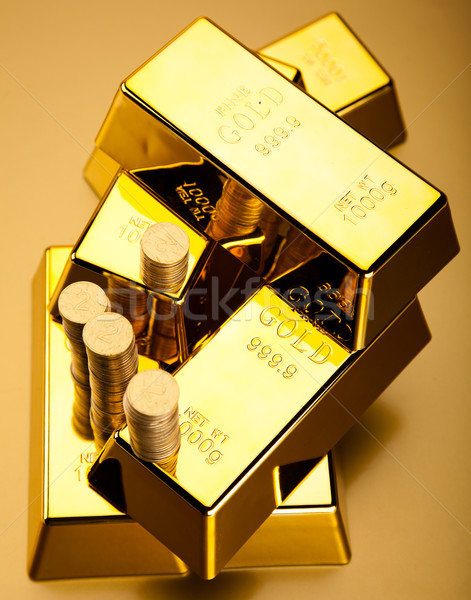 Goud waarde financiële geld metaal bank Stockfoto © JanPietruszka