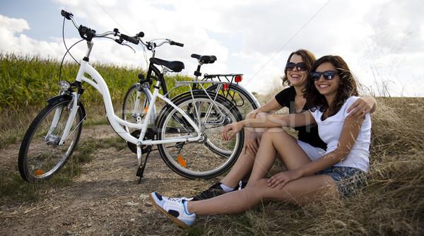 Ride a bike on the summer Stock photo © JanPietruszka